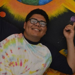 Rodolfo Arias with colorful