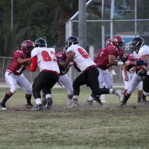 Varsity football shows improvement, holds own against Sierra Vista Dons