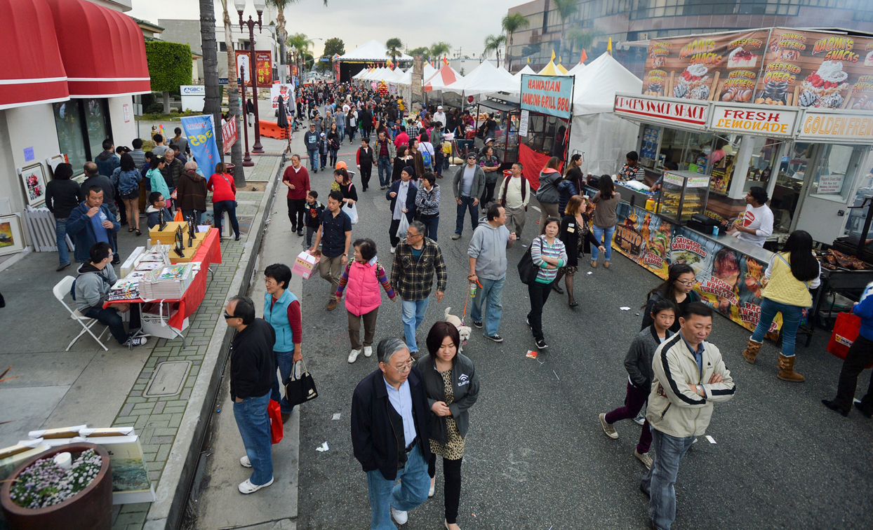 Monterey Park holds their Lunar New Year Festival to celebrate the Year of the Monkey on seven blocks along Garvey Avenue on Saturday January 30, 2016. The free festival features traditional New Year performances, vendors, food booths, a carnival, giveaways drawings, and more. Courtesy of Keith Durflinger/Pasadena Star News
