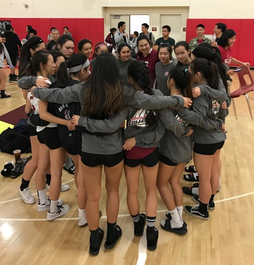 Girls' volleyball team comes together after their CIF game PHOTO COURTESY OF KEVIN LEE