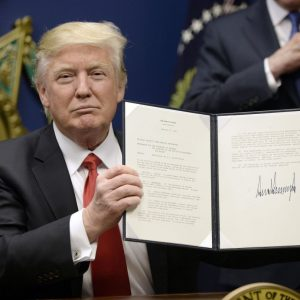 "President Trump officializes the ""Muslim ban"""