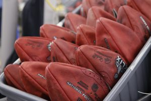 Official game balls for the Super Bowl. PHOTO COURTESY OF USATODAY