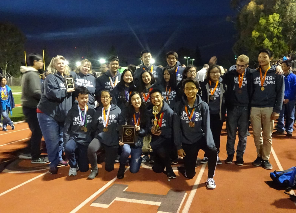 Keppel Science Olympiad team poses with their awards from the competition.