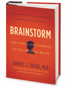 "The cover of the book, ""Brainstorm,"" which is the basis of the assembly. PHOTO COURTESY OF DANIEL SIEGEL"