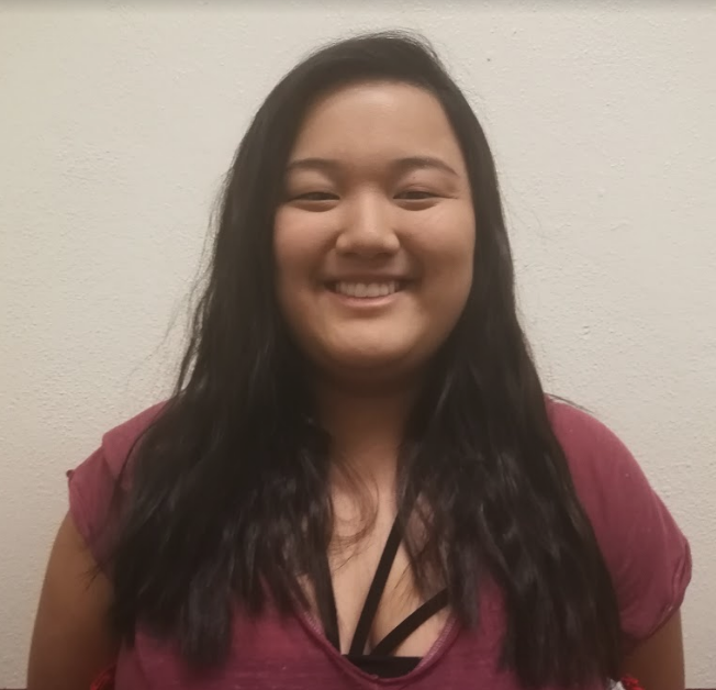 "Audrey Kato plays the role of Rona Peretti in this year's play, ""25th Annual Putnam County Spelling Bee"". THE AZTEC/CALLISTA LIU"