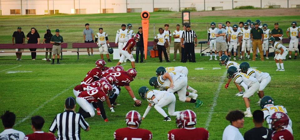 Aztec football first season loss to Temple City Rams